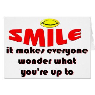 Sonrisa - haga que la gente se pregunta lo que su  tarjeta pequeña