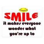 Sonrisa - haga que la gente se pregunta lo que su  tarjetas postales