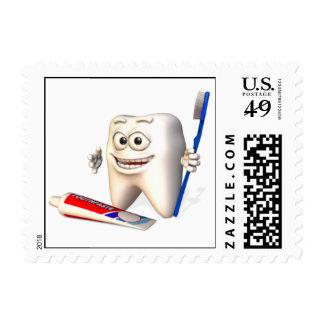 Sonrisa - hora para su chequeo sellos postales