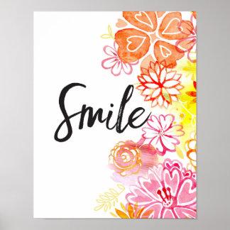 Sonrisa, impresión del arte de las flores