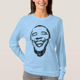 Sonrisa infecciosa Obama Sleave largo T Playera