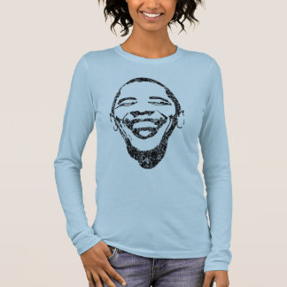 Sonrisa infecciosa Obama Sleave largo T Playera De Manga Larga