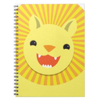 ¡Sonrisa linda estupenda de la cara del león NP Cuadernos