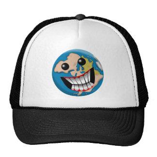 Sonrisa mundana gorras