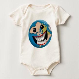 Sonrisa mundana mamelucos de bebé