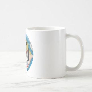 Sonrisa mundana taza de café