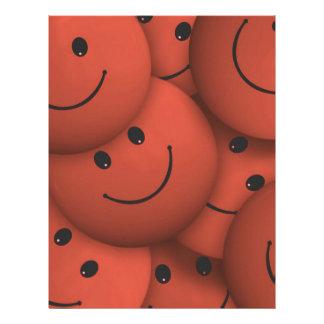 Sonrisa, naranja plantilla de membrete