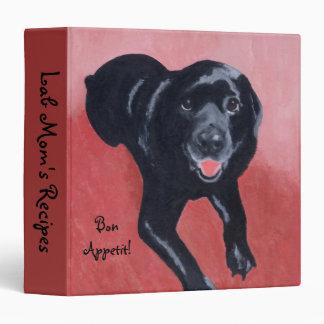 "Sonrisa negra de Labrador Carpeta 1 1/2"""