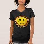 Sonrisa obsesionada hongo camiseta