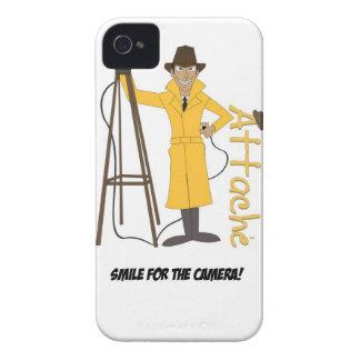 Sonrisa para la caja del teléfono de Attaché© I de Case-Mate iPhone 4 Carcasa