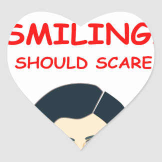 sonrisa pegatina en forma de corazón
