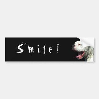 ¡Sonrisa! pegatina para el parachoques blanca del  Pegatina Para Auto