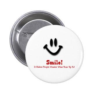¡Sonrisa! Pin Redondo 5 Cm