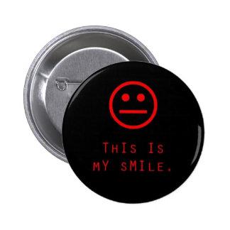 Sonrisa Pin Redondo 5 Cm