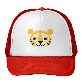 Sonrisa principal linda de los gatos del gato gran gorra