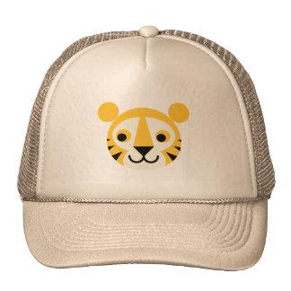 Sonrisa principal linda de los gatos del gato gran gorras