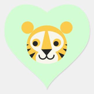 Sonrisa principal linda de los gatos del gato gran pegatina corazón personalizadas