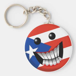 Sonrisa puertorriqueña llavero redondo tipo pin