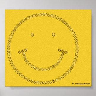 Sonrisa que frunce el ceño por Gregory Radomisli Póster