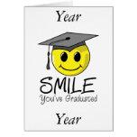 Sonrisa que usted ha graduado felicitacion