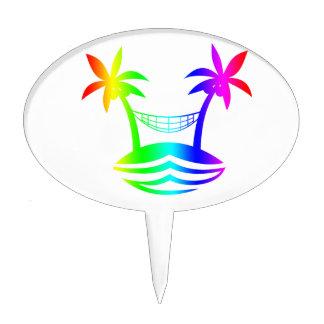 sonrisa rainbow.png de la playa de la hamaca de la figura de tarta