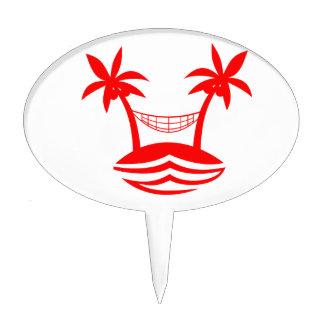 sonrisa red.png de la playa de la hamaca de la decoraciones para tartas