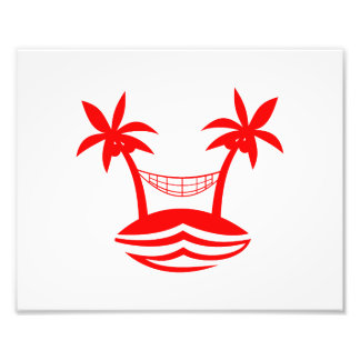 sonrisa red.png de la playa de la hamaca de la pal fotografías