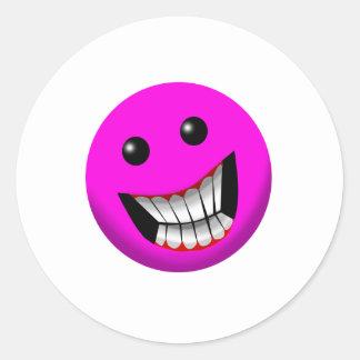 sonrisa rosácea pegatina redonda