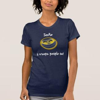 Sonrisa se arrastra gente hacia fuera camiseta