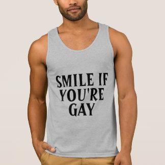 Sonrisa si gay playera de tirantes