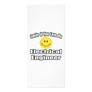 Sonrisa si usted ama a un ingeniero eléctrico lonas publicitarias