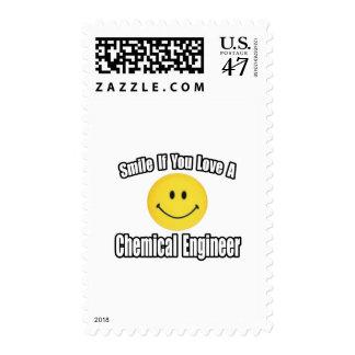 Sonrisa si usted ama a un ingeniero químico timbres postales