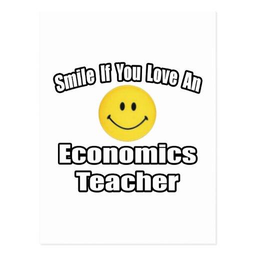 Sonrisa si usted ama a un profesor de la economía postal