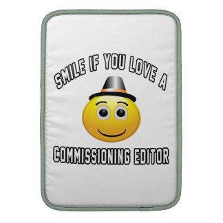 sonrisa si usted ama a un redactor de Comisión Funda Para Macbook Air