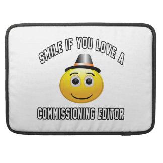 sonrisa si usted ama a un redactor de Comisión Funda Para Macbook Pro