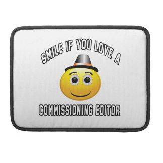 sonrisa si usted ama a un redactor de Comisión Funda Macbook Pro