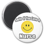 Sonrisa si usted ama a una enfermera imán de frigorifico