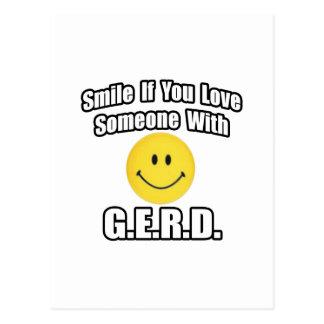 Sonrisa si usted ama alguien con G.E.R.D Tarjeta Postal