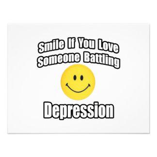 Sonrisa si usted ama alguien depresión de lucha anuncio personalizado