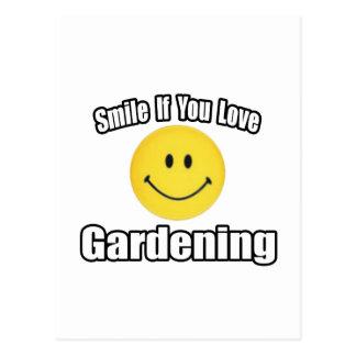 Sonrisa si usted ama el cultivar un huerto postal