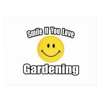 Sonrisa si usted ama el cultivar un huerto postales