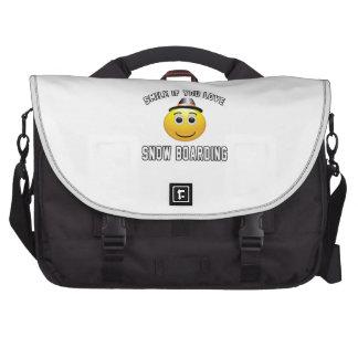 Sonrisa si usted ama el embarque de la nieve bolsas de portatil