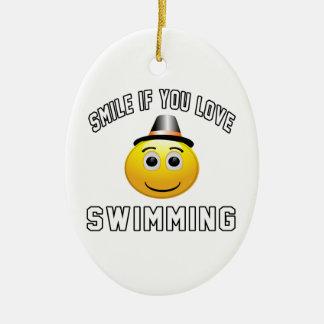 Sonrisa si usted ama el nadar adorno para reyes