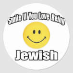 Sonrisa si usted ama el ser judío etiqueta