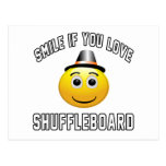 Sonrisa si usted ama el Shuffleboard. Postal