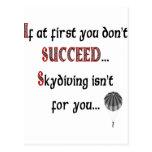 Sonrisa si usted ama Skydiving Tarjetas Postales