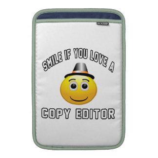 sonrisa si usted ama un redactor de copia fundas MacBook