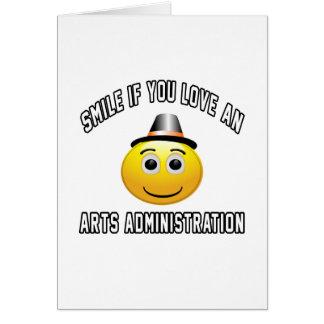 sonrisa si usted ama una administración de los tarjeta