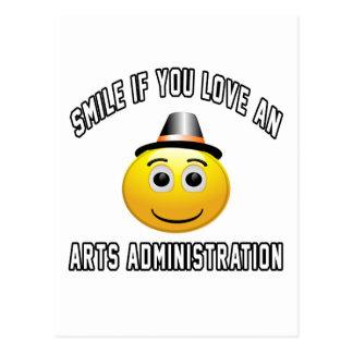 sonrisa si usted ama una administración de los tarjetas postales