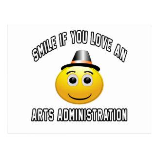 sonrisa si usted ama una administración de los tarjeta postal